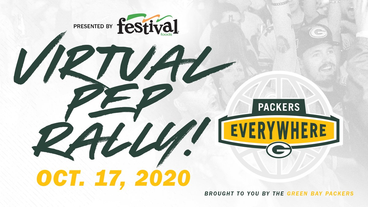SATURDAY ➡️ Join us for a #PackEverywhere pep rally presented by @festfoods!  🗓️ Oct. 17th ⏰ 6 p.m. CT 🏈 Hear from Packers President/CEO Mark Murphy, Packers alumnus @OfficialAJHawk and more!  Details and how to watch ➡️