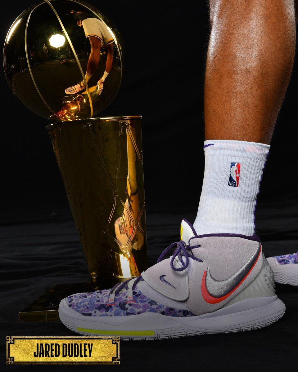 👟 @JaredDudley619 🏆   #NBAFinals • #NBAKicks https://t.co/yiev7PH90T