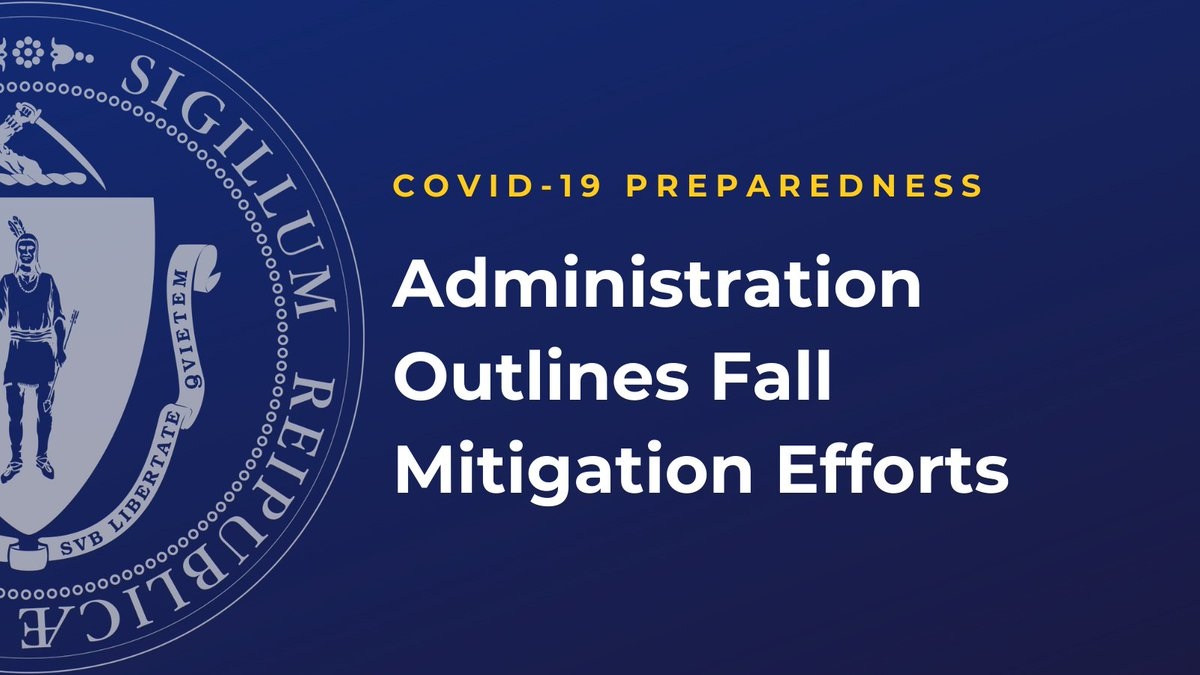Today we outlined our strategies to mitigate #COVID19MA this fall ➡️ https://t.co/fh1AZDCdwD  This approach includes:  📍 Sustaining our nation-leading testing effort, including the Stop the Spread program, which provides free, asymptomatic testing + will now run through December https://t.co/hQgL6yhinu