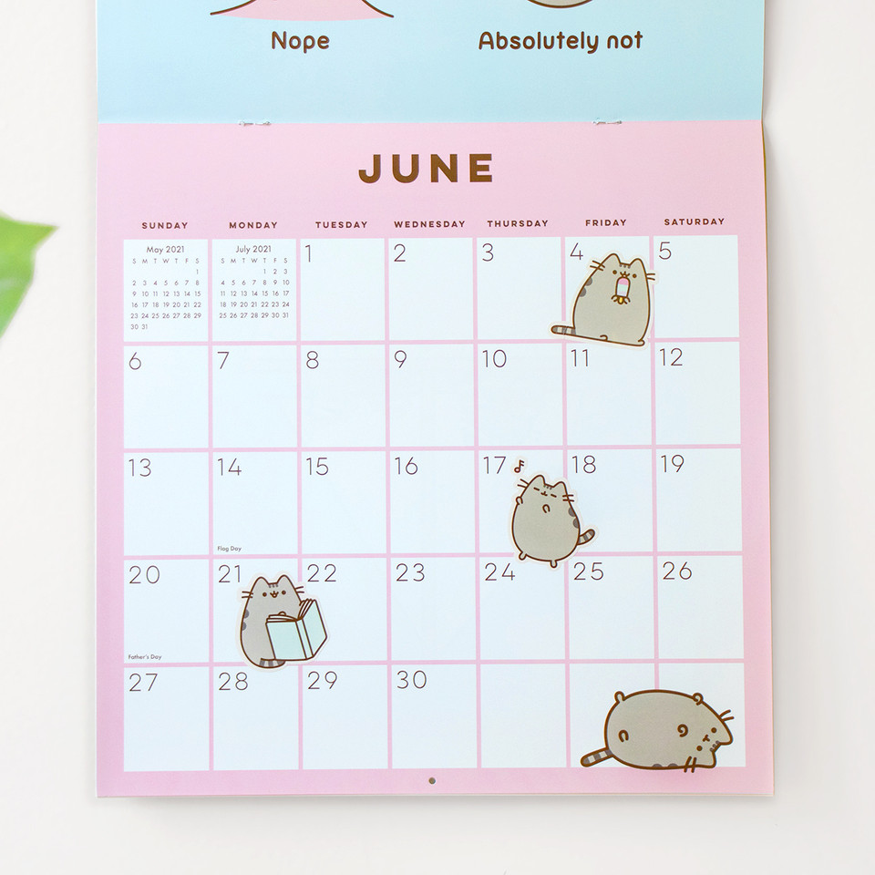 2021 is closer than you think and Pusheen is bringing some happiness and excitement to a new year! ✨ Get ready and order your 2021 wall calendar and planner now using the link 📆 amzn.to/2GX2z