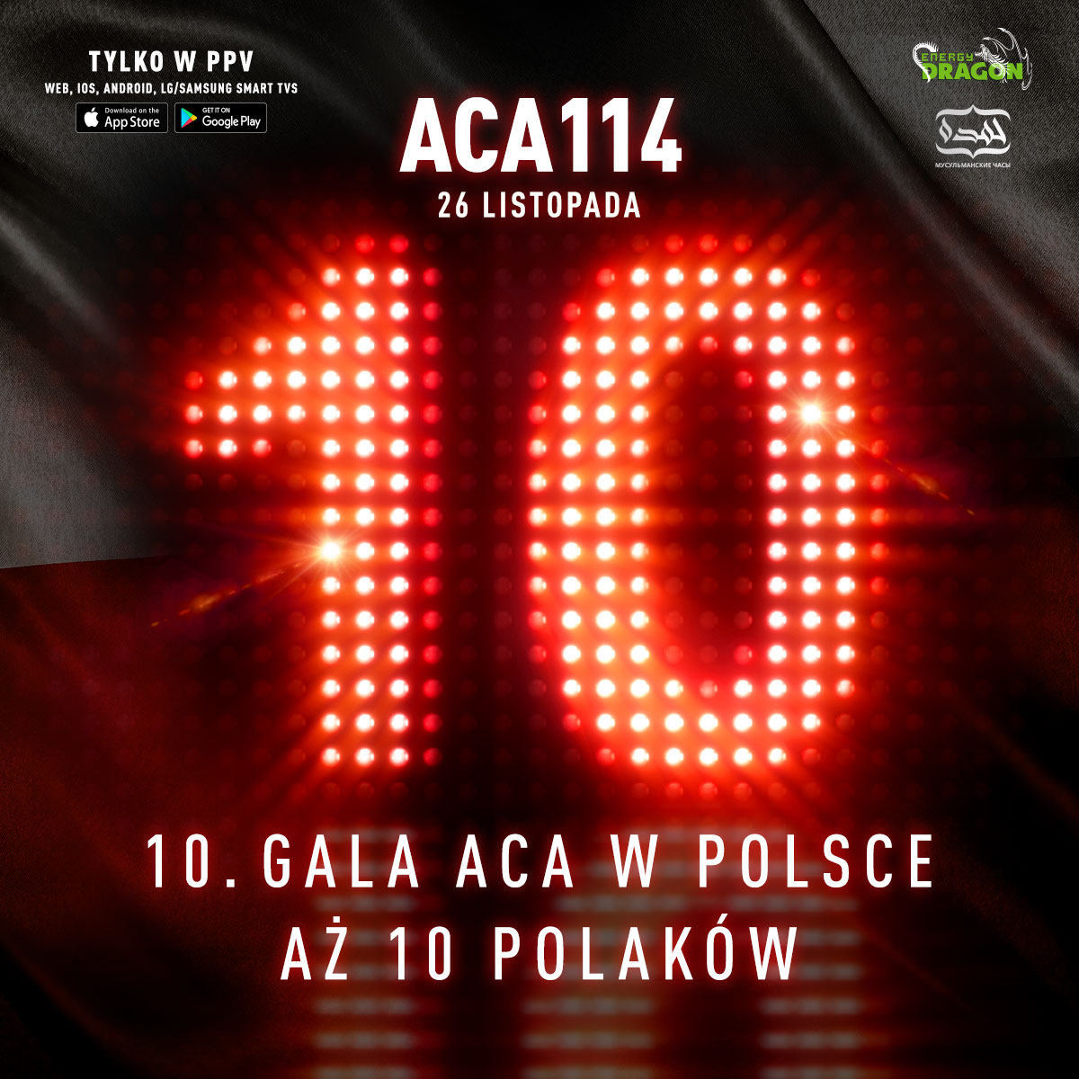 🔥 ACA 114 📌 26 listopada 💻 Tylko w PPV  👊🏼 26 listopada wracamy do Polski na naszą 10 jubileuszową galę ACA!  🤔 Kogo chcielibyscie zobaczyć w walce wieczoru? https://t.co/z4F1U5GSNa