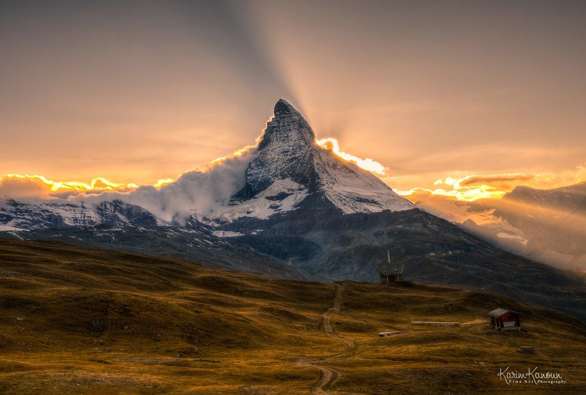 Dramatic scenery with the mystical and majestic #Matterhorn - #Zermatt ❤️ , #Valais. #Switzerland  #amazingswitzerland #zermattmatterhorn #zermattswitzerland #inlovewithswitzerland #swissalps #visitswitzerland #myswitzerland #wallis #switzerlandwonderland   #mountainsunset