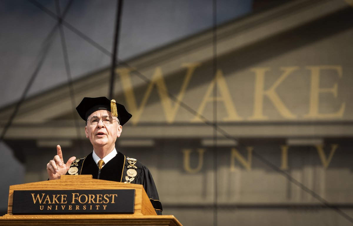 Wake's president is retiring. There's a good chance that their next leader won't look like Dr. Hatch. Good. But, optics and identity politics aside-will the next president invest in affordable housing in WSNC? Wake has an obligation to neighborhoods beyond its hedges. #WakeShould