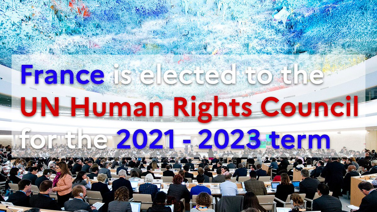 France is elected to the @UN Human Rights Council for the 2021-2023 term! 🙌 https://t.co/ImxshHOUyT