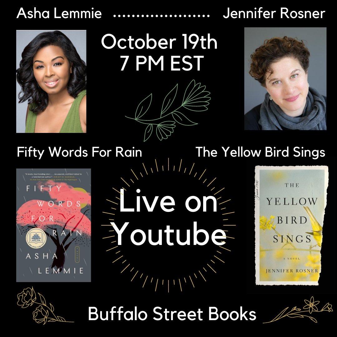 Watch @jen_rosner and Asha Lemmie's event with Buffalo Street Books! youtube.com/watch?v=jVj9Cb…