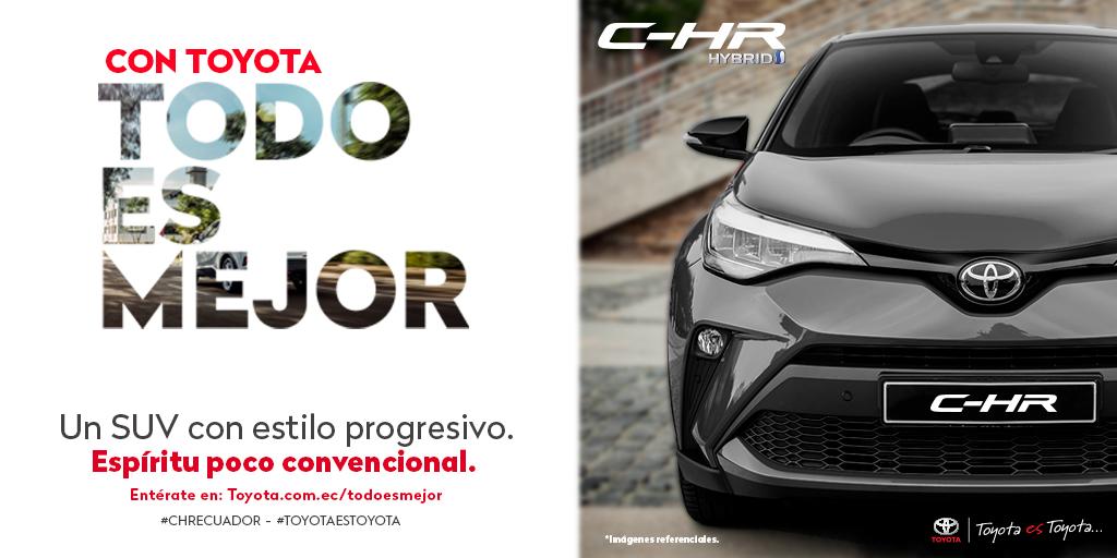 ¡Conoce el nuevo Toyota C-HR! Un SUV con estilo progresivo, que robará miradas en todo momento. Cotízalo HOY a un click: https://t.co/C6Qyt27k1h  . #ConToyotaTodoEsMejor - Diseñado para vivir diferente. #CHRToyota https://t.co/HBB4C3vmJM