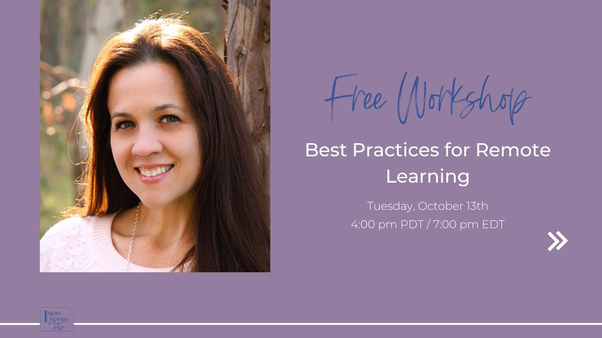 Join @TechCoachSusan at 4:00 pm PDT / 7:00 pm EDT for a free workshop on quick, actionable tips you can use right now to save time and thrive as a primary teacher in #blendedlearning & #remotelearning! Save your seat ➡️  https://t.co/Vu59m7Dj8j #teachingonline #edtechteam https://t.co/OYW18vr0yq