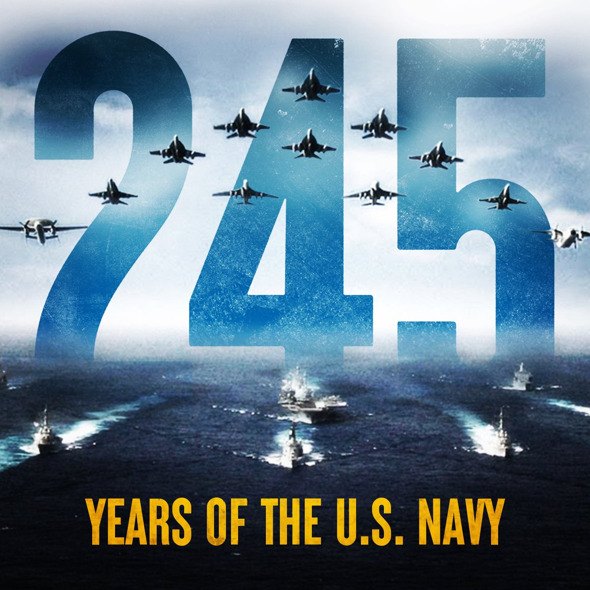 Today, we celebrate 245 years of those forged by the sea, who are and will remain the most lethal global maneuver force in the world. Happy Birthday, U.S. Navy!