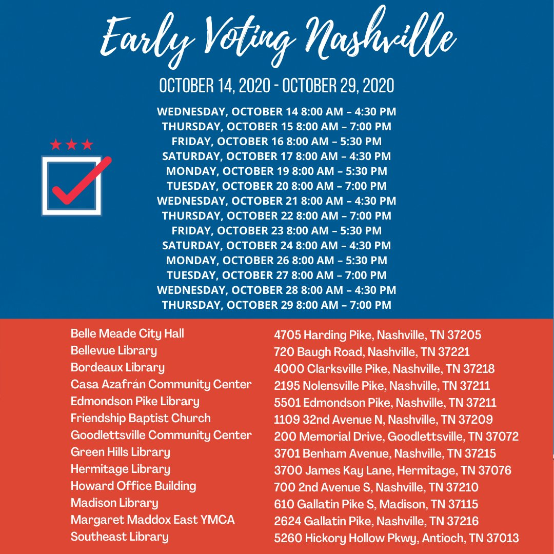 Early voting starts tomorrow Nashville get your tiny hiney to the polls! Graphic by Vanessa Sun