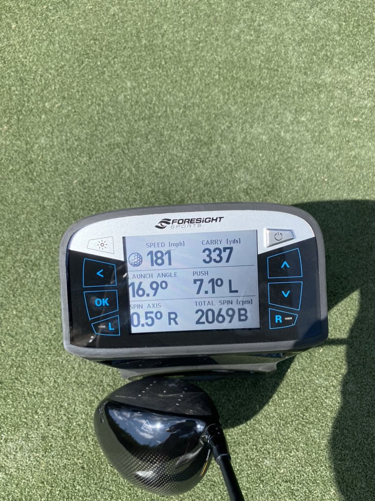 Bringing these numbers to the Champions Tour this week. They've got nothing for Bryson, but should show well for 50+ year olds 😉 Monitor wasn't aimed exact but this one actually went straight.