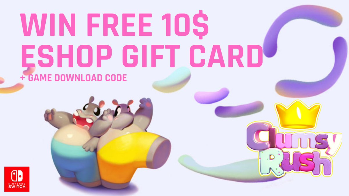 Join to WIN!💲1⃣0⃣ eShop gift card + Clumsy Rush ❗️❗️ Retweet & like this post 👊🥳 Join #giveaway here ⤵️  https://t.co/v5lBaOVona  #eShop #NintendoSwitch #games #GiveawayAlert https://t.co/35Jfv8Mh6Q