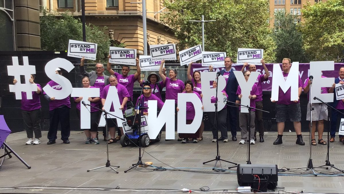 People with intellectual disability say #StandByMe  Say YES to advocacy funding @GladysB @Dom_Perrottet @garethjward  @carlyfindlay @AFDO_CEO @EveryAustralian @BronwynHemsley @3DN_UNSW https://t.co/SxKkRORE2S