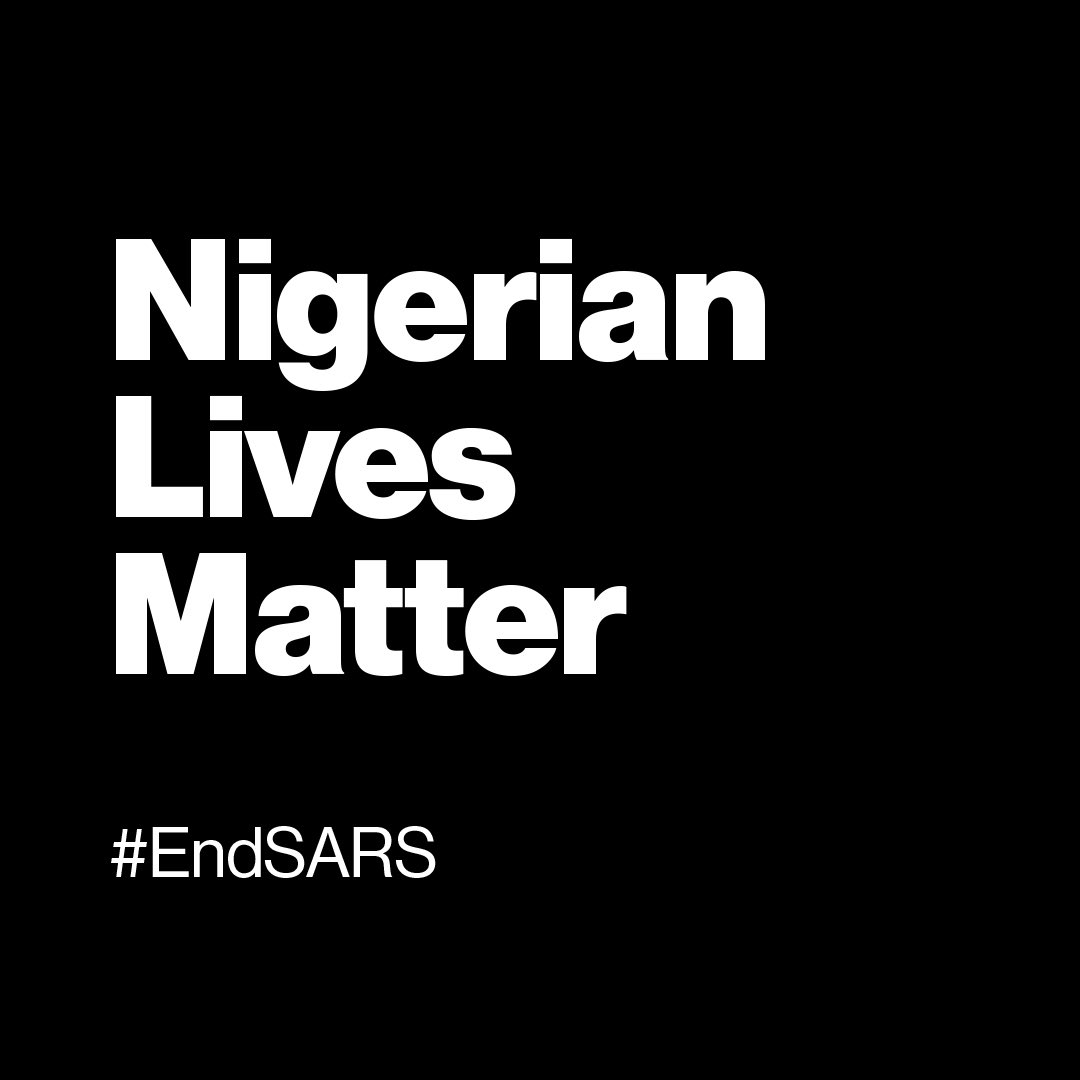 """Injustice anywhere is a threat to justice everywhere... Whatever affects one directly, affects all indirectly."" - Dr. Martin Luther King, Jr. #EndSARS"