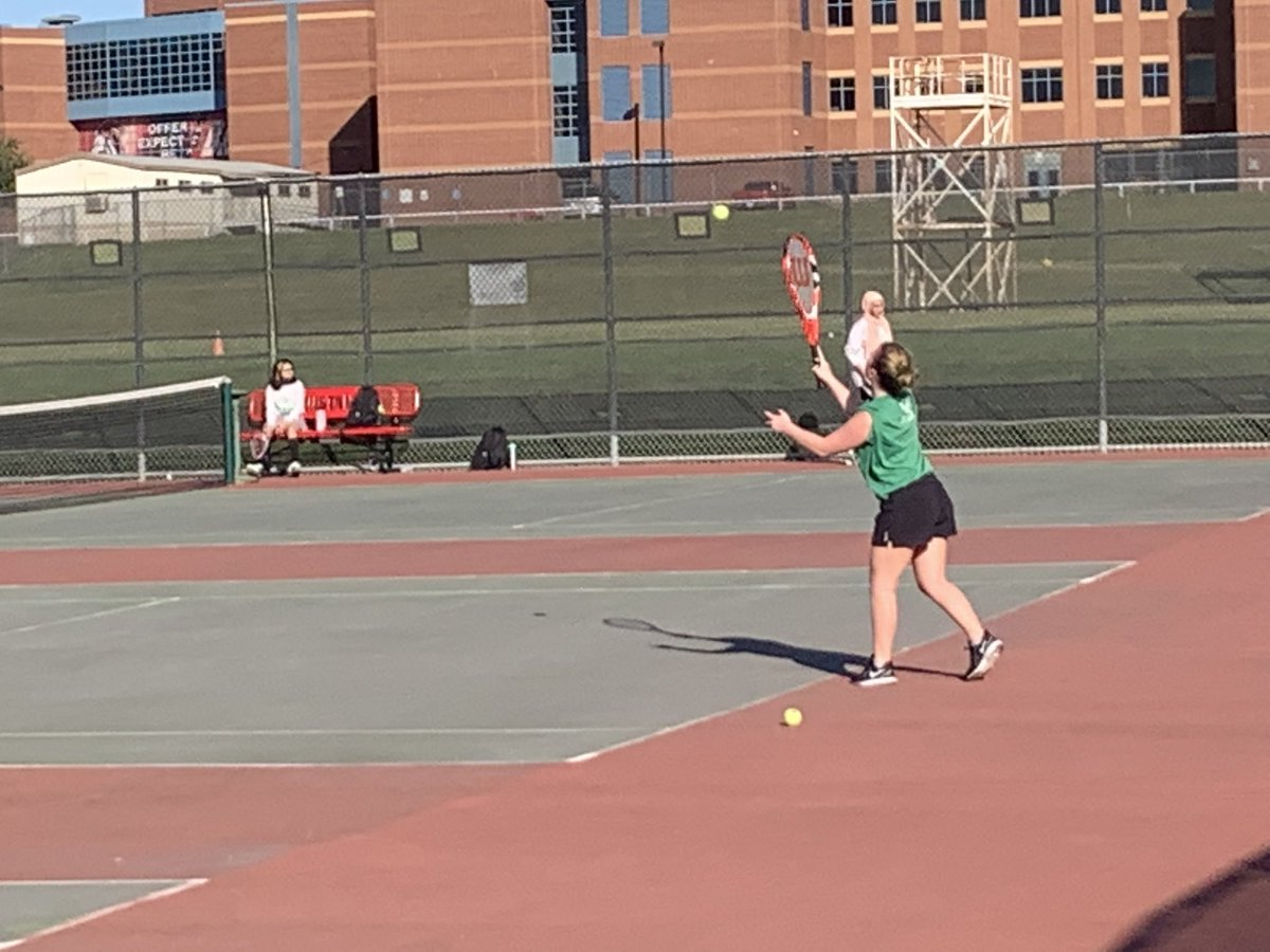 Bryan Adams 🎾 taking on Creekview in a District 11-5A Team Tennis matchup. @BACougar_Sports