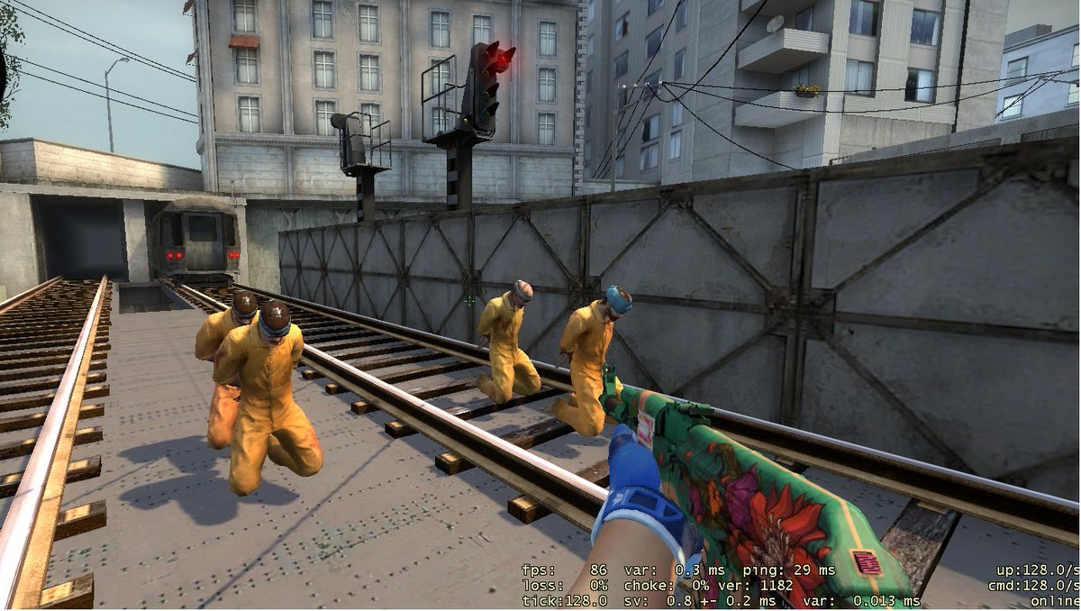 .@CSGO due to recent update i've decided to let 2 hostages go. But 2 lives still hanging by a thread and train is getting closer!! fix fps bug or ELSE