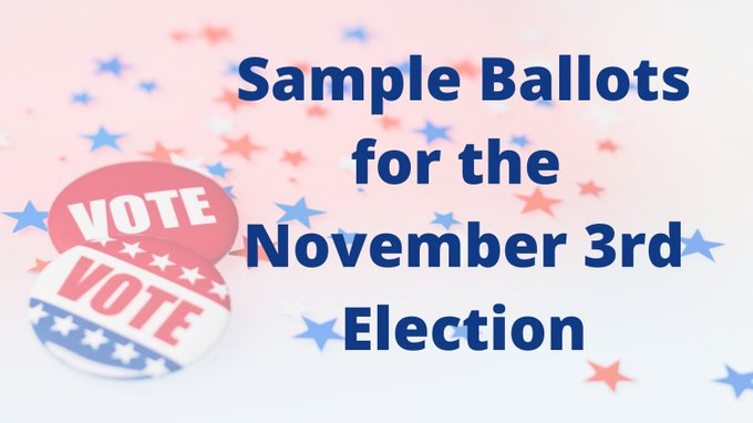 Town of Franklin, MA: Sample Ballots for the November 3rd election