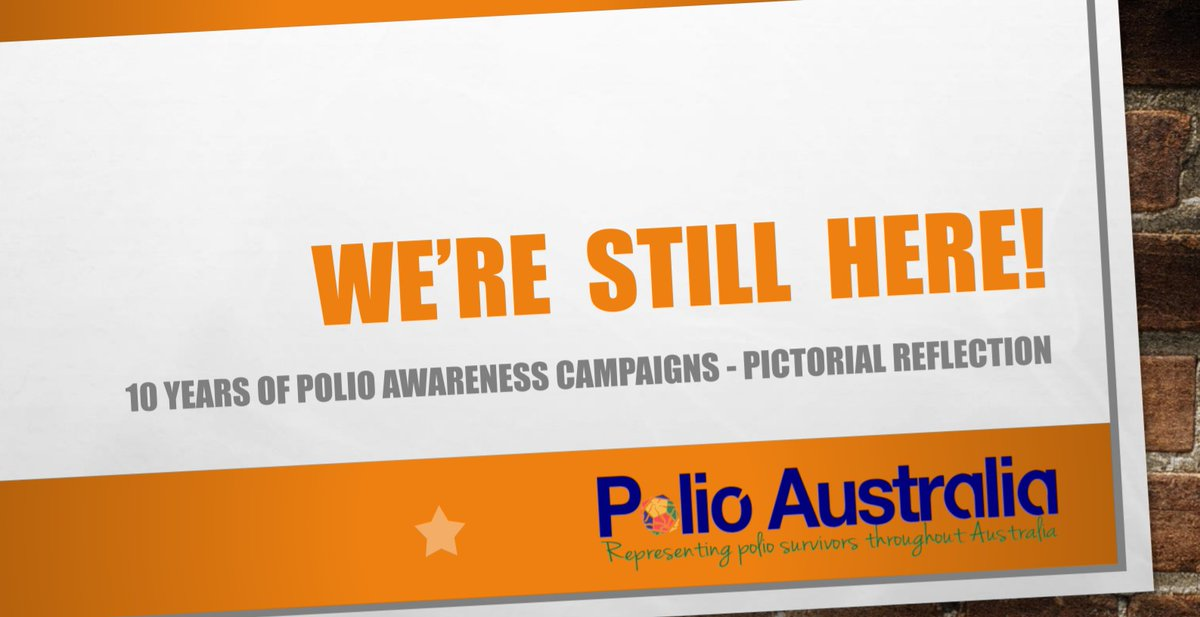 10 Years of Polio Awareness Campaigns! #polioawareness #polio  #PolioAwarenessMonth #PostPolio #PastPandemicSurvivors #WereStillHere  https://t.co/f1ftHufJiO https://t.co/vvwQCNHdHd