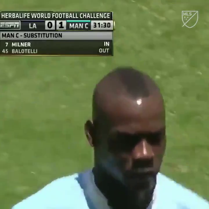 When Mario Balotelli did this against the Galaxy and was immediately substituted 😂