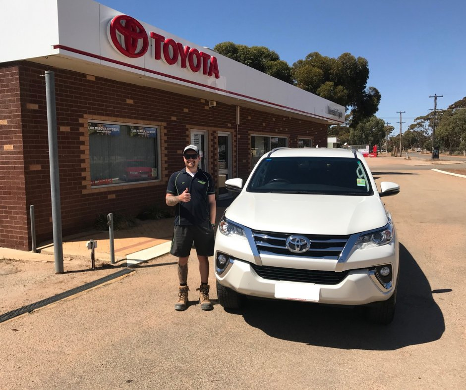 Check out that smile!😃Congrats to our Guest Thomas Gower on taking delivery of his #Toyota #Fortuner from our #Merredin dealership. https://t.co/YwUqX8aKHv
