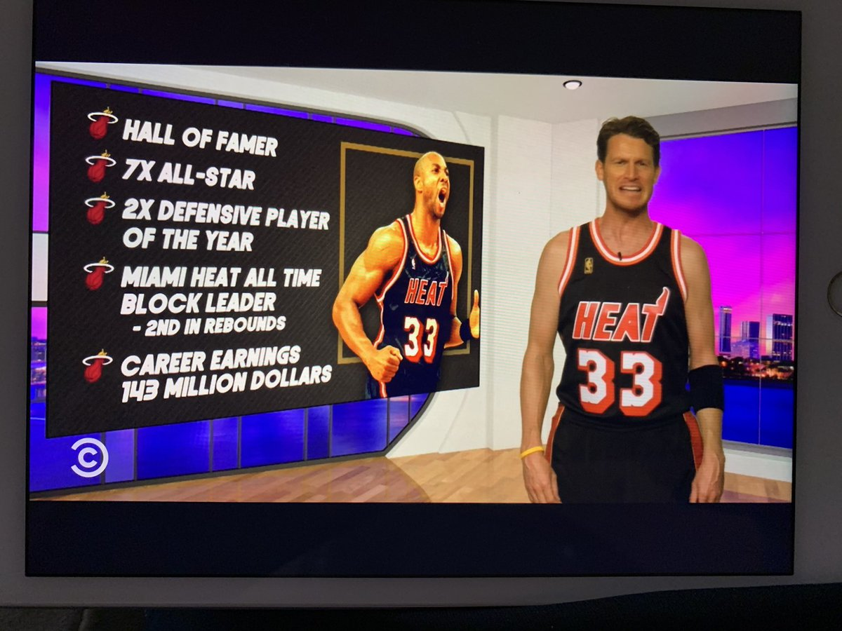 Yes! @danieltosh with the sweet #seasonofmourning Alonzo Mourning jersey! @iamzo33