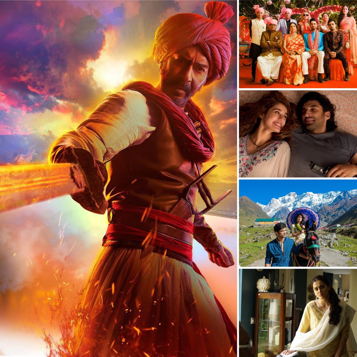 As cinemas ready to reopen their doors from this week onwards, the list of #Hindi films scheduled for re-release this week is OFFICIALLY announced... ⭐️ #Tanhaji ⭐️ #ShubhMangalZyadaSaavdhan ⭐️ #Malang ⭐️ #Kedarnath ⭐️ #Thappad More films will be scheduled in coming days. https://t.co/4Dm7xCjIlG