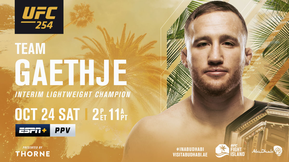 Ready to steal the show 😤  RT if you're w/ @Justin_Gaethje at #UFC254   [ B2YB @Thorne_Research ] https://t.co/A4Dpuvc8lN