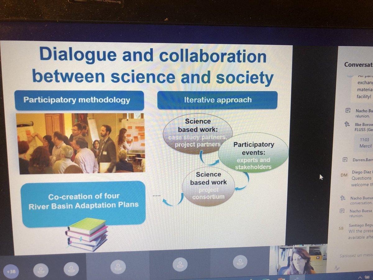 #TripleC conférence avec des échanges avec d'autres projets pour mieux s'adapter au changement climatique avec des solutions locales partagées #ClimateAction #Atlantic #interreg @Chambagri24  Nous sommes 38 en ce moment! https://t.co/SYrB1WhOyL