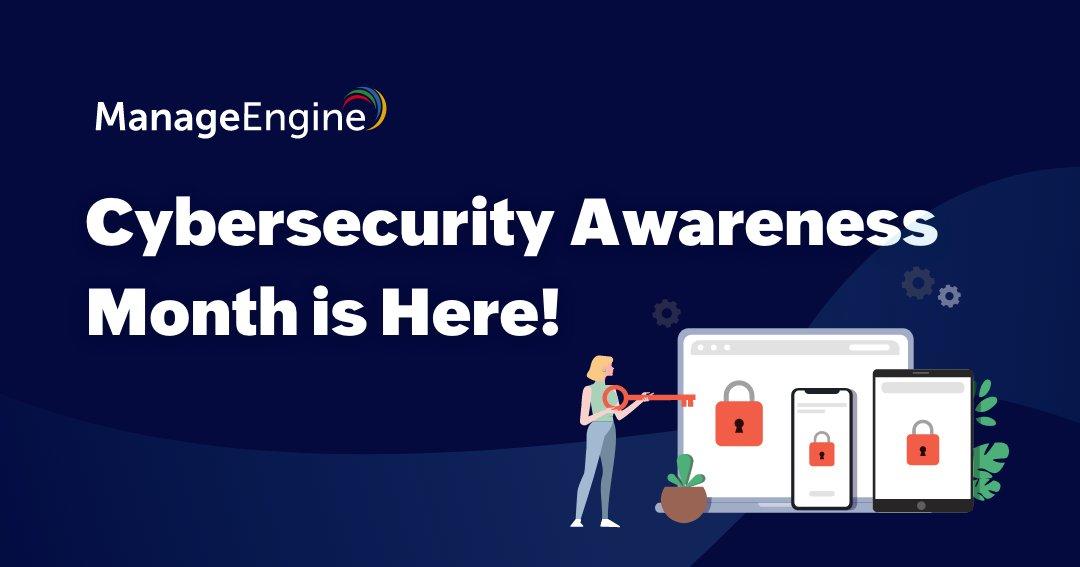 Il Cybersecurity Awareness Month di @ManageEngine è arrivato! 🚀 Potrai scoprire nuove tendenze e rispolverare le conoscenze sulla #sicurezza #informatica 💻🔝  PARTECIPA 👉  https://t.co/a3La2UFjfh  #MEforCybersecurity#NCSAM2020#cybersecurityawareness#cybersecurity https://t.co/TudFlFlKpH
