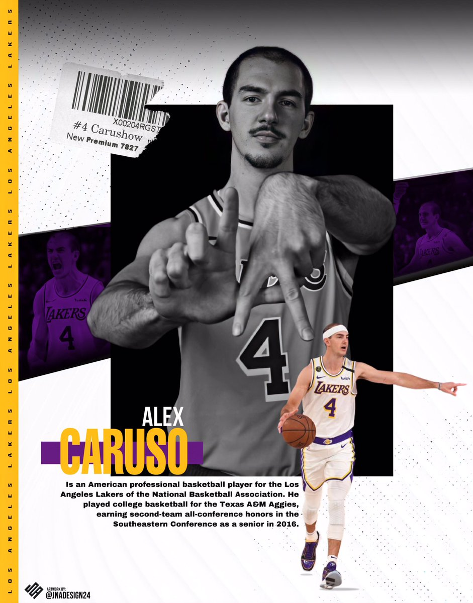 ARTWORK FOR ALEX CARUSO OF THE LOS ANGELES LAKERS!  @acfresh21 @lakers   OPEN FOR COMMISSION!  #alexcaruso #alexcarusomemes  #lakers #lakersnation #lakers4life #lakergang #nba #nbafinals #nbabubble #finals #smsports #hoopcreativeweekly #nbayoungboyedits https://t.co/bWkXEzT3j9