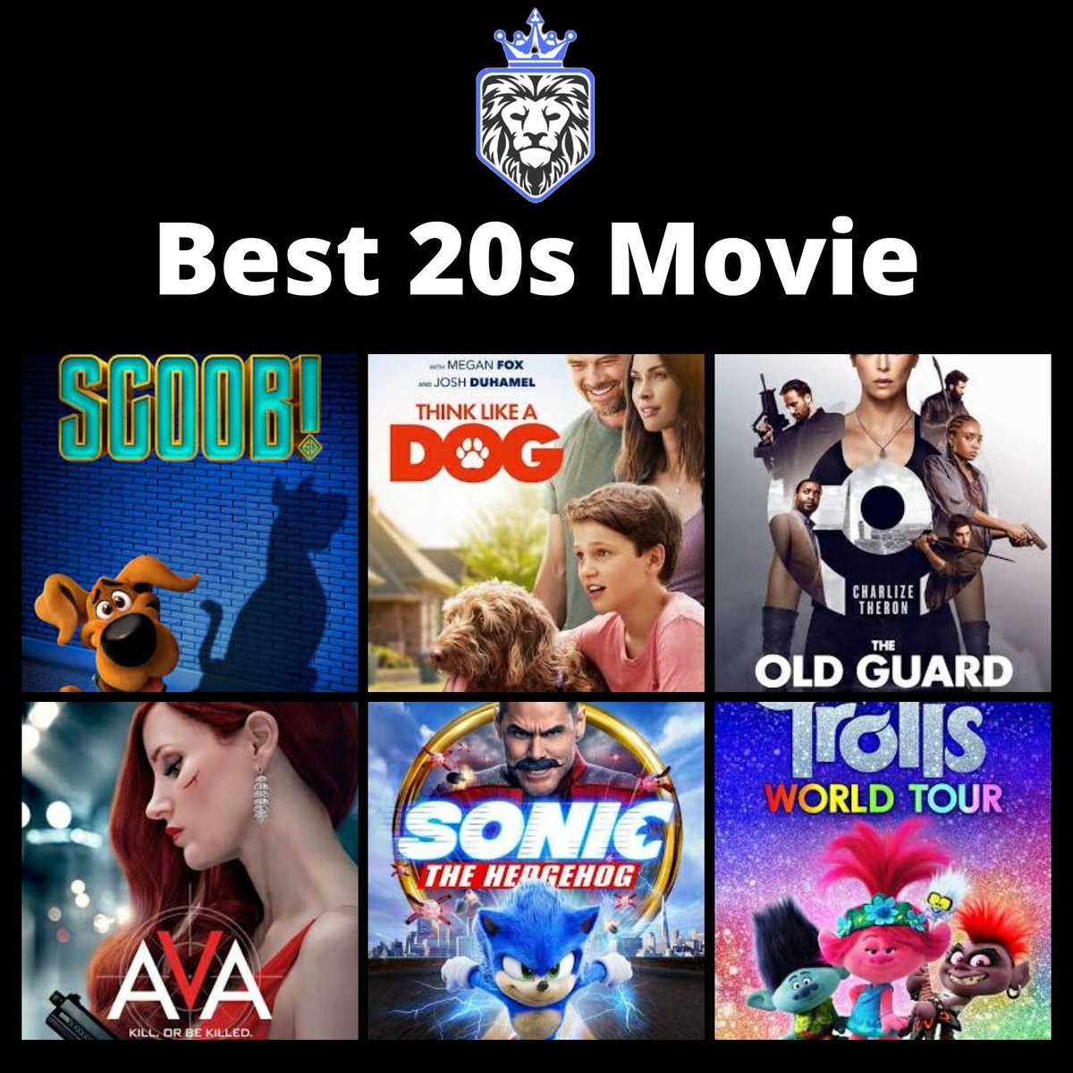 Which out of these is the best movie this year?  There hasn't been many good ones this year but out of these, which did you like best.  #movies #movie #Movies2020 #films #film #bestmovie #bestmovies #bestfilm #bestfilms #whatisbest #2020 #whichmovie #whichfilm #scoob #ava #sonic https://t.co/GrTl2Ykhmp