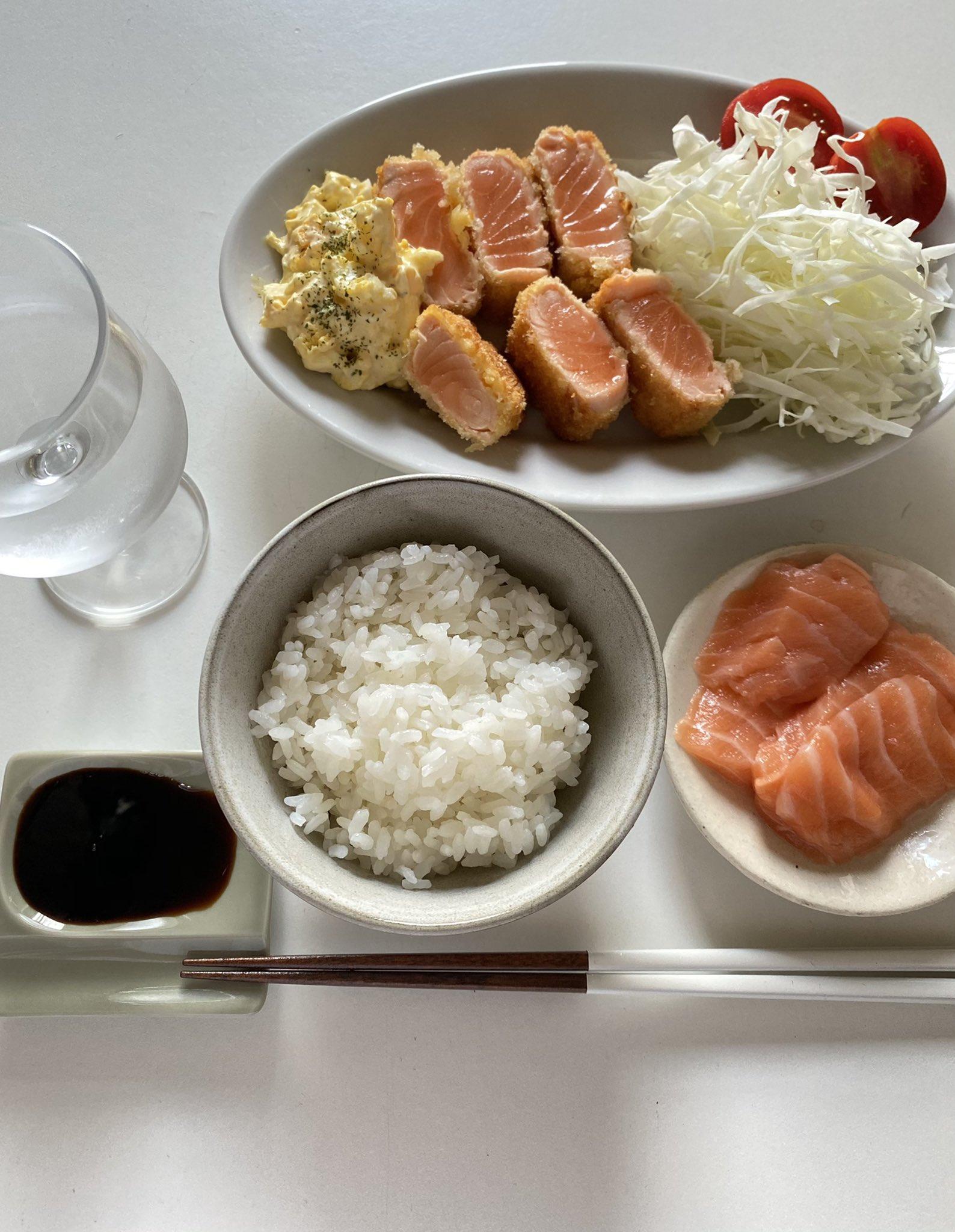 サーモン定食01