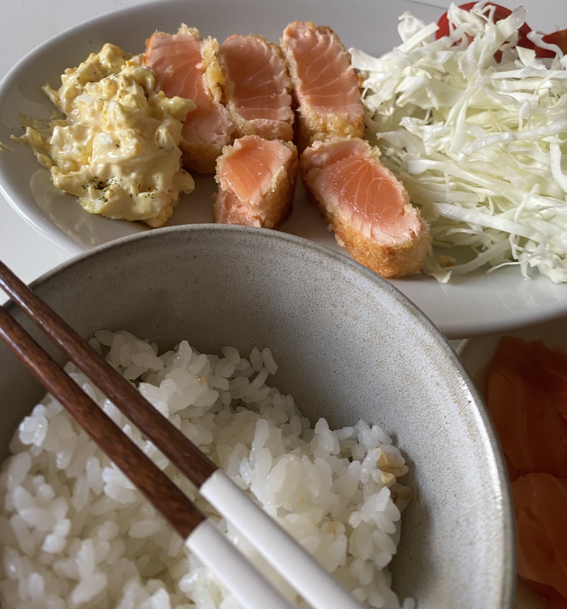 サーモン定食02