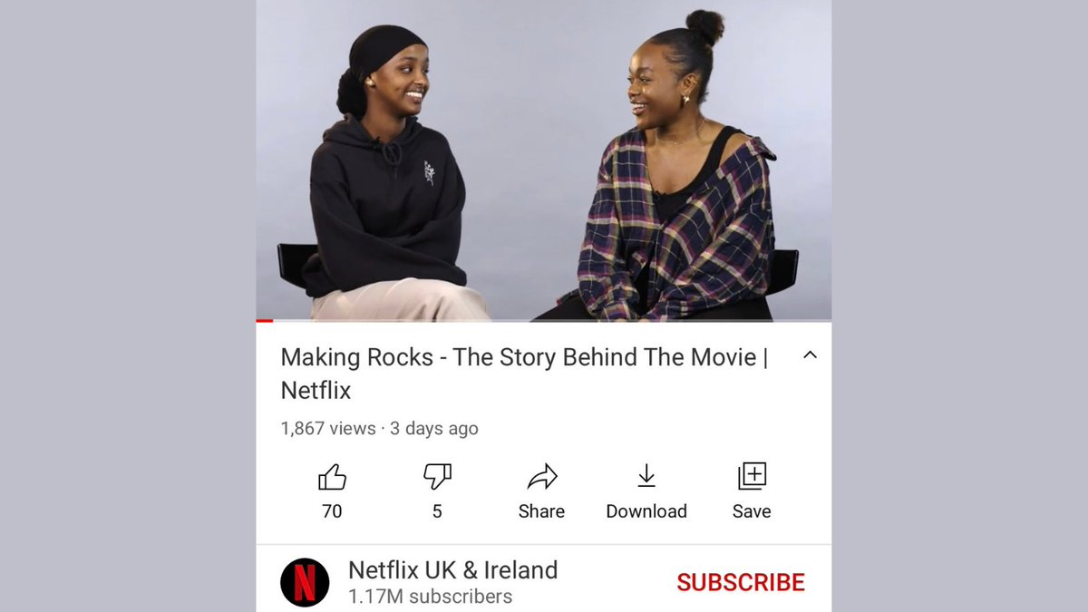 Head over to @NetflixUK YouTube channel for 'Making Rocks - The story behind the movie' where they are joined by stars ⭐️ @Bbukkx @kosarali__ and writers🖊 @TheresaIkoko and Claire Wilson❤️ #rocksfilm youtu.be/PkbCvwjs32w