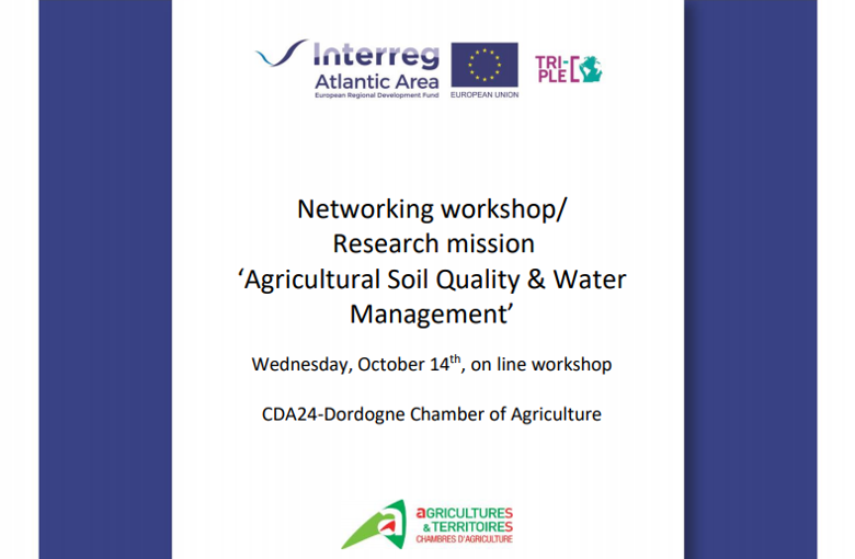 Looking forward to the next workshop/mission for the #TripleC project this morning, a great line up of talks which will make for a great session. @AtlanticArea #ClimateChange #Agriculture #Soil #WaterManagement https://t.co/EN1YeOiCd0