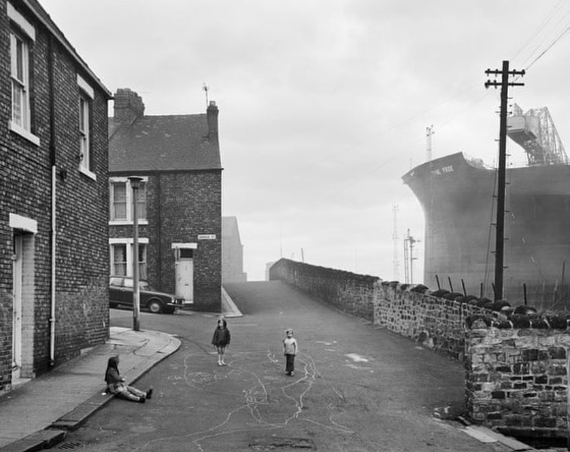 Terribly sad news about the passing of Chris Killip. An outstanding photographer who leaves an incredible legacy. Photo: Looking east on Camp Road. Wallsend, 1975.