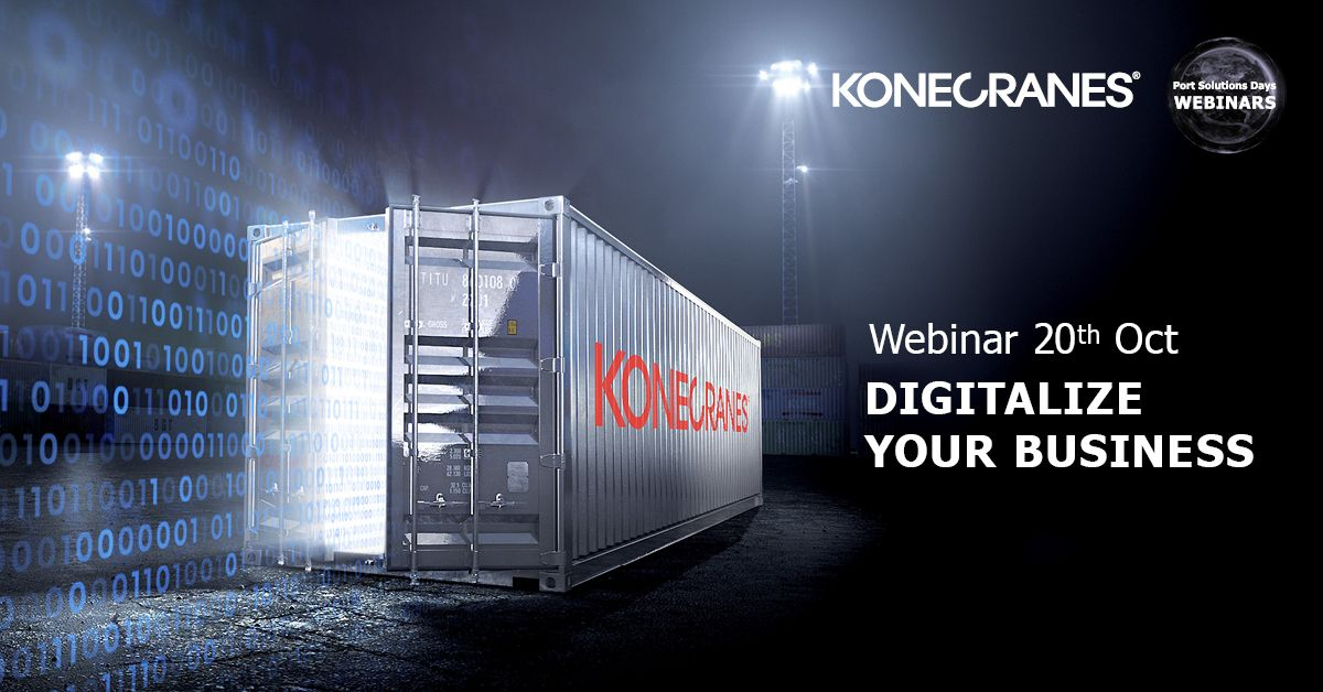 "[#WEBINAR] Join our ""Digitalize your business"" webinar on 20th Oct and find out how you can extract maximum value from the data generated by your container handling operations. Register here: https://t.co/vlPlRKJDKc #portsolutionsdays #digitalization https://t.co/xUXuYABFgL"
