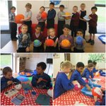 Year 2 pupils have been exploring the wonder of #Space and the solar system. They created fantastic factual posters about each of the planets and then made their own model planets using balloons and modelling rock. We think they look out of this world! #learningisfun 👨🚀🚀🪐