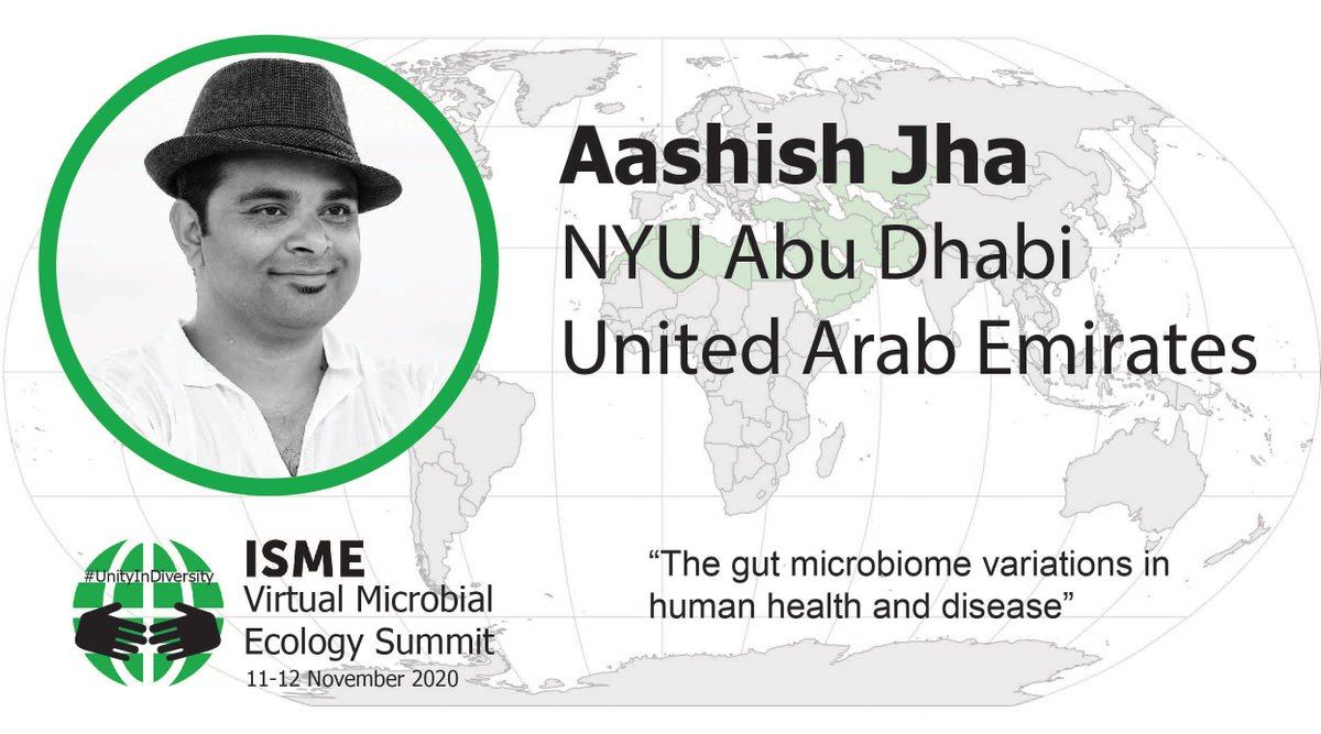 In the spotlight: Gut microbiome variations in human health and disease. Get ready for Aasish Jha @nepaliaashish ! @ISME_microbes #UnityInDiversity 11-12 November 2020