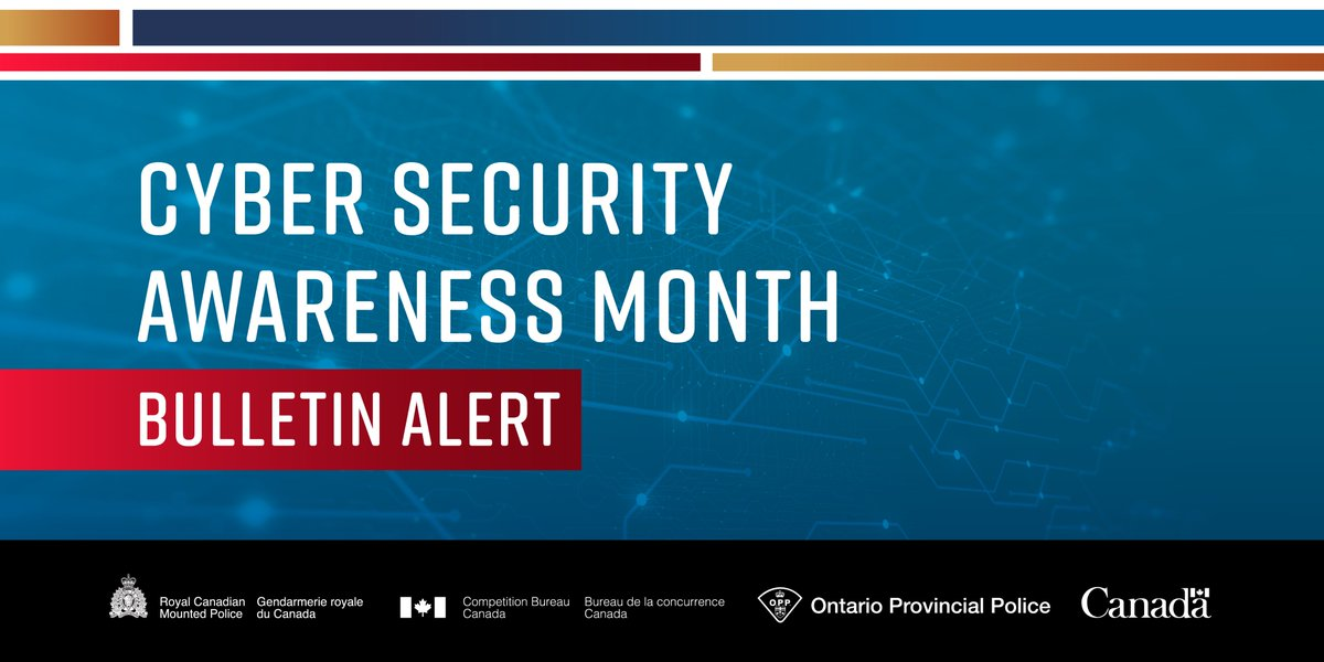 During Cyber Security Awareness Month's Computer Week, the Canadian Anti-Fraud Centre (CAFC) would like to remind you to be vigilant when surfing the Internet. This bulletin was prepared to highlight the Top 5 Online Scams and prevention tips. antifraudcentre-centreantifraude.ca/features-vedet…