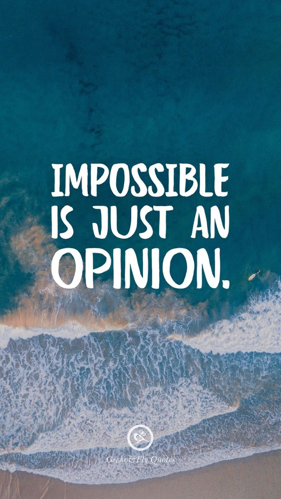 Don't listen to it !! . #impossible  #im  #possible  #onlyanopinion  #opinion  #youcan  #youare  #youwill  #tryit  #dontlistentoit https://t.co/ZOkU1N6yLD