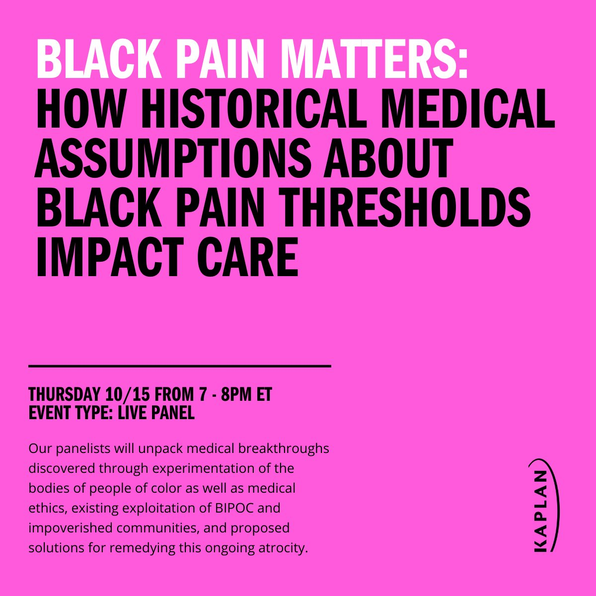 In this event, our panelists will address well documented racial disparities in treatment―including around COVID-19―and will take a close look at Black case studies that can and should be included in medical curricula. Join us tomorrow and register here: https://t.co/EDXoZMWf6y https://t.co/zW74VQuFE6