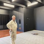 @keswdrama has been renovating the old Green Room into a new state of the art 60 seat Studio Theatre. Our painter Alan has just finished preparation work. The new vinyl flooring, sound and lighting equipment is being installed over half term. Very exciting! #KESWcommunity