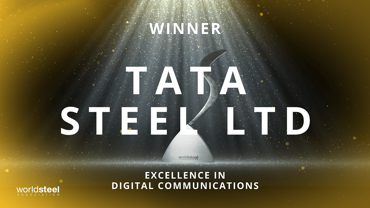 For the 2nd year in a row, @TataSteelLtd take the Excellence in #digital communications #SteelieAward. Congratulations to team Tata! 👏 https://t.co/Mm1VBvrxyr
