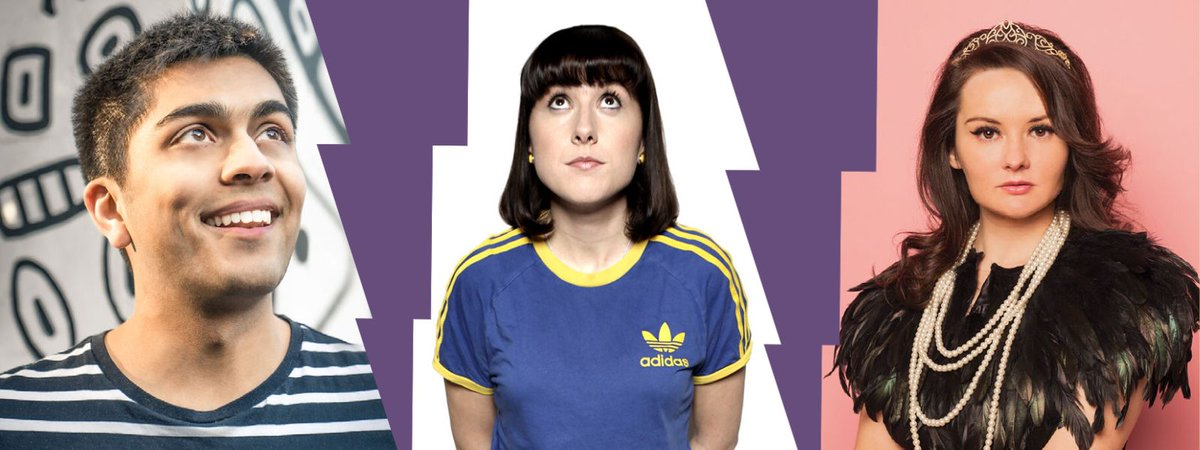 Check out that comedy treble bill coming to #Fareham next Saturday 😍 Catch the hilarious @RachelFairburn, @Jamie_DSouza and @MaisieAdam at Ashcroft Arts on Saturday 24 October, 7.30pm. Tickets £10: buff.ly/36ZXwMj