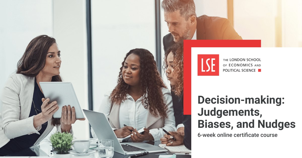 Learn how to outsmart bias and judgements in strategic decision-making with this new course from @LSEnews. https://t.co/cUuV7R2t2a https://t.co/AoLKjcCryE