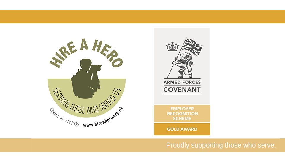 In July Hire a Hero was awarded the ERS Gold Award, the gold award acknowledges employers who provide exceptional support to the armed forces community, Hire a Hero is one of nine businesses in Wales who received the award.  #servingthosewhoservedus #armedforces https://t.co/hRF9ZDWGST