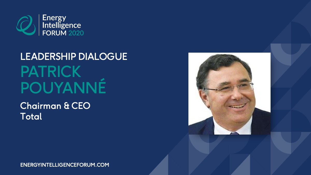 We're delighted to now welcome to our digital stage Patrick Pouyanné, the Chairman & CEO of Total for a Leadership Dialogue and also to accept the 2020 Energy Innovation Award on behalf of @Total.  @PPouyanne #EIForum #TheBigEnergyReset https://t.co/VxCX67JRcY