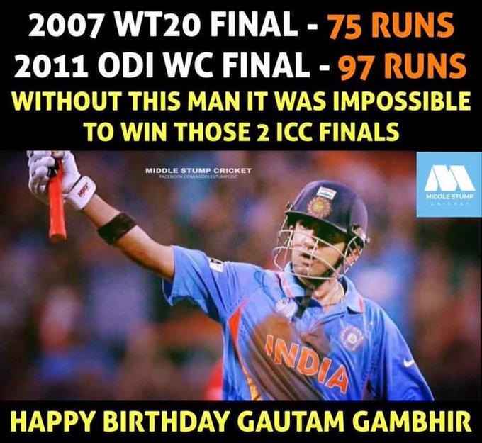 Happy birthday dear Gautam gambhir ji (Gauti).  god bless you. Aap aise hi hanste or muskurate rahe