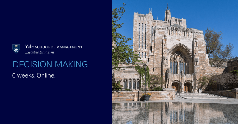 Make your most important life decisions effectively. Gain insights from world-class faculty in this new program from @YaleSOMExecEd. https://t.co/j728R7sxsJ https://t.co/DUNSqCdJJk