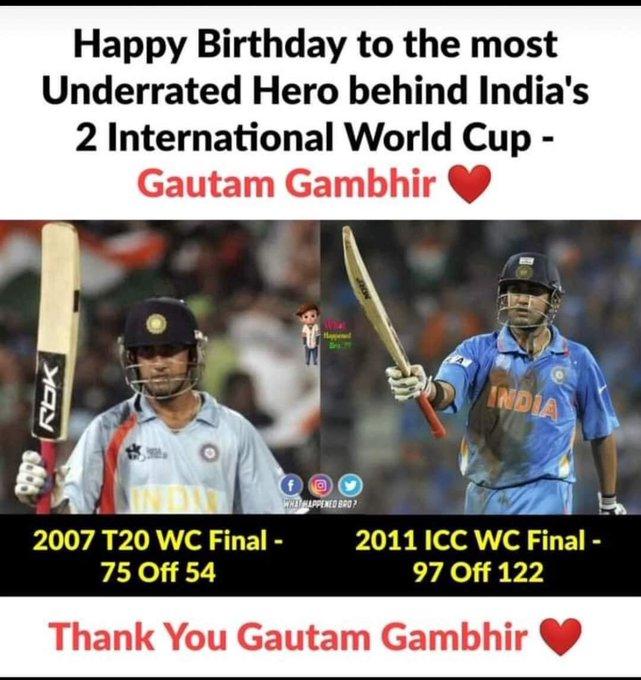 Happy Birthday GAUTAM GAMBHIR BHAI